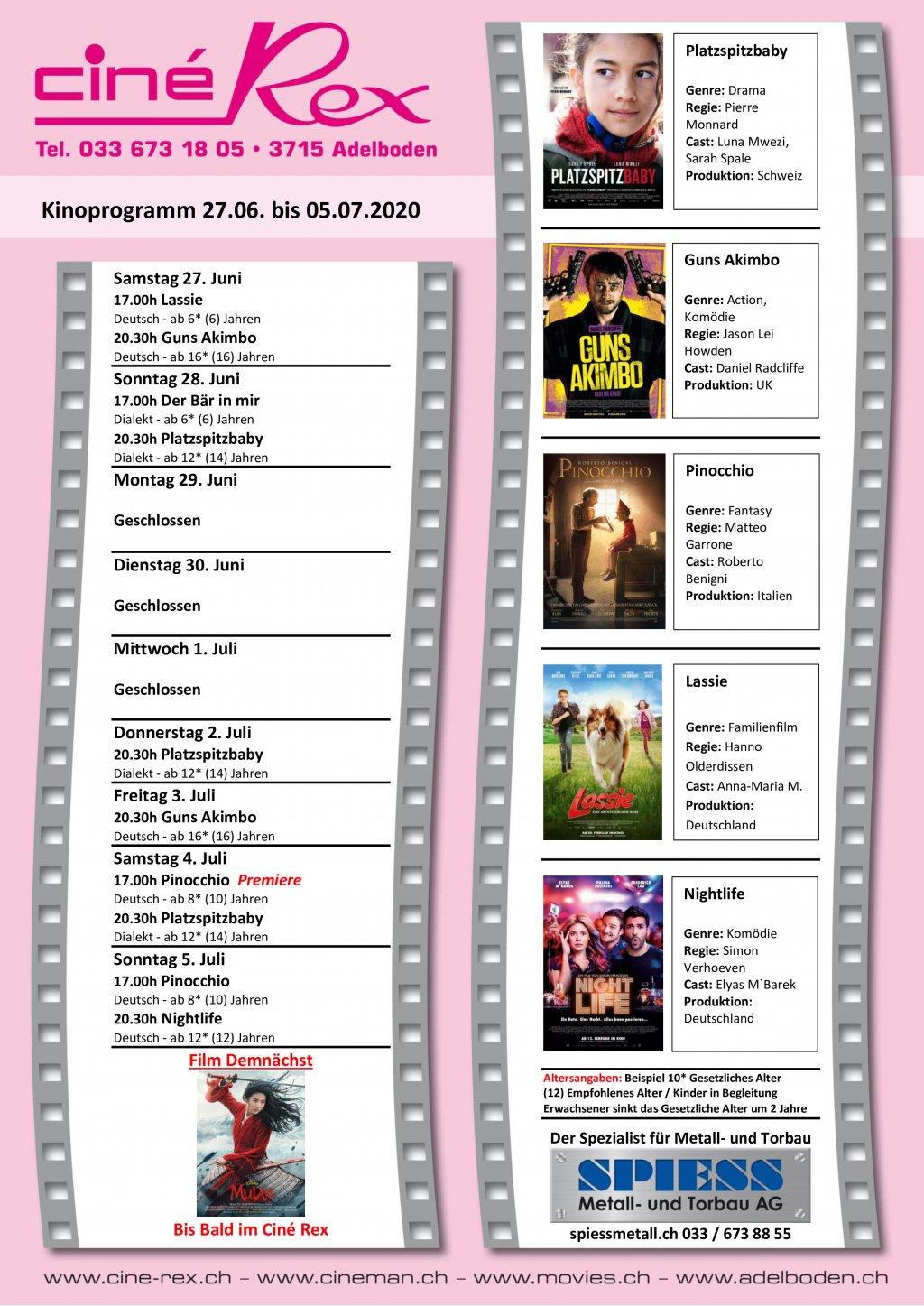 Aktuelles Kinoprogramm Lünen